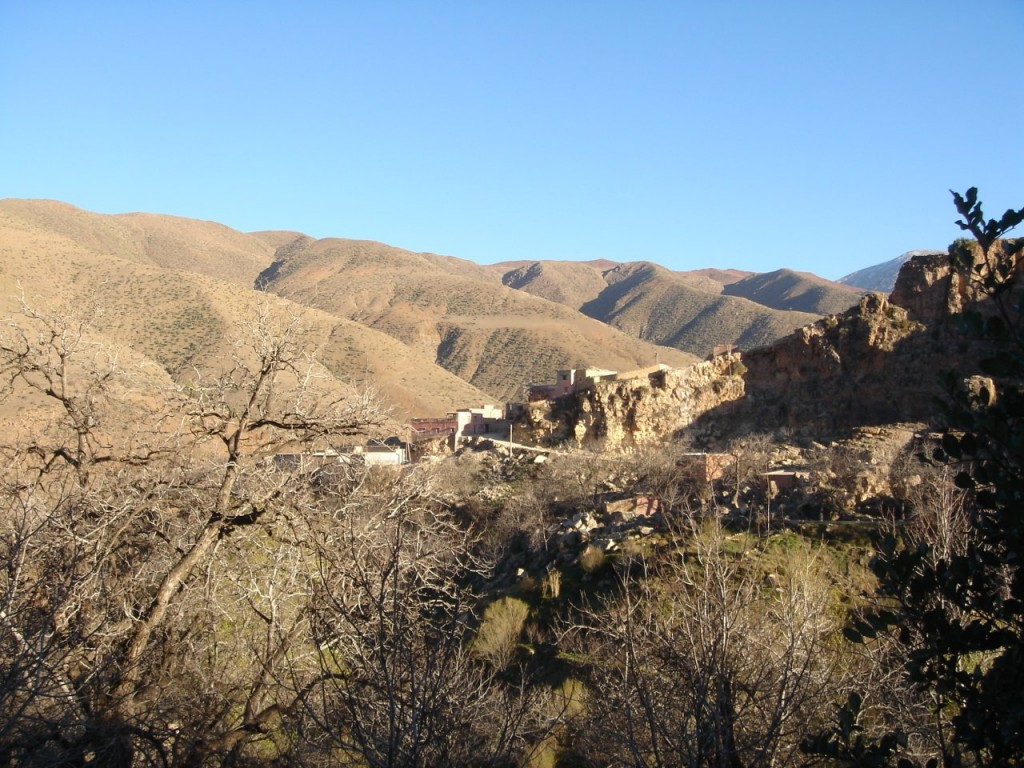 Berber village in the mountain